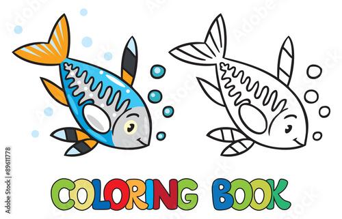 X Ray Fish Coloring Book