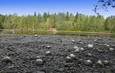 Finland. Imatra. Dry Riverbed of Vuoksa River