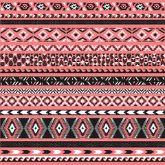 Seamless pattern. Vector illustration for tribal design. Ethnic motif.