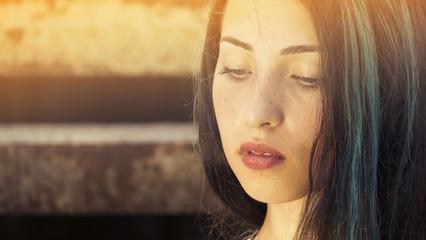 freckles woman portrait
