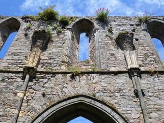 Pilaster in einer alten Klosterruine
