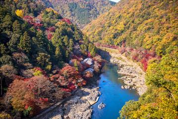 beautiful view point of arashiyama