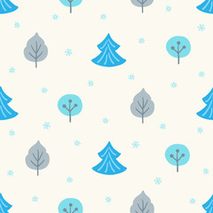 Seamless pattern with winter forest. Perfect for wallpapers