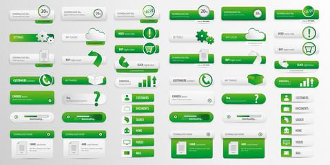 Green business button pack