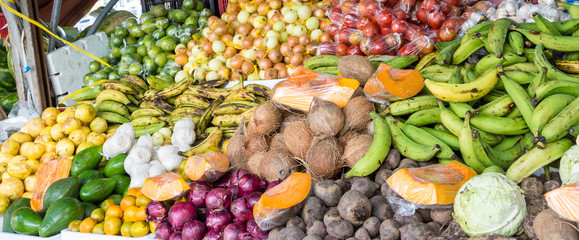 Mixed Produce in Curacao Market