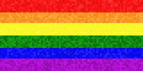 LGBT Flag With Lego Mosaic Effect