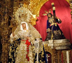 Virgen de la  Esperanza, barrio de Triana, Sevilla, España