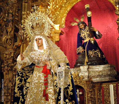Virgen De La Esperanza Barrio De Triana Sevilla Espana Stock