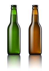Bouteilles de bière vectorielles 1