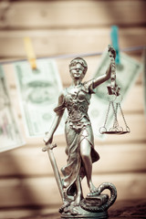 Themis goddess or lady justice