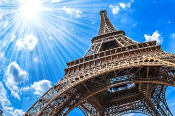 Eiffelturm - Weitwinkel Aufnahme Fototapete
