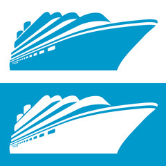 Cruise ship icon. Vector illustration.