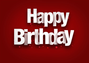 Happy Birthday Font red