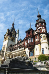 Famous royal Peles castle, Sinaia, Romania