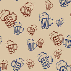Pattern with mugs-2