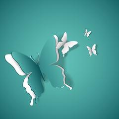 Blue butterflies background