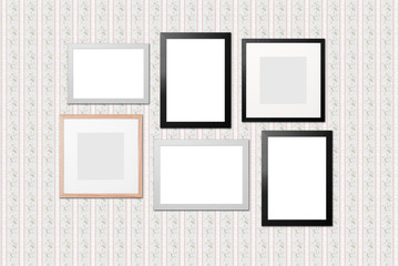 patterned paper with different frames