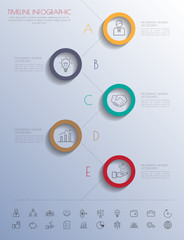 Colour StepDesign shadowline icons  timeline template/graphic or