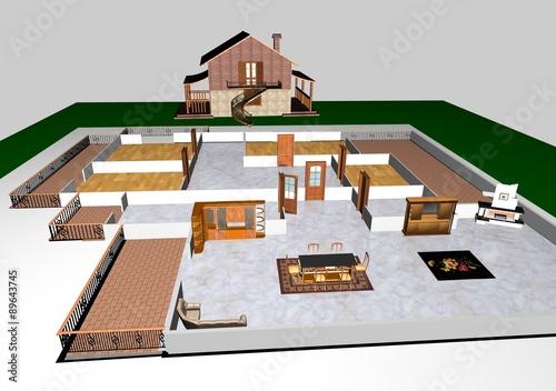 Progetto casa in campagna photo libre de droits sur la - Progetto casa campagna ...