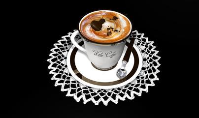 Cappuccino con cioccolatino e crema