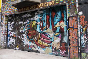 Fotobehang Graffiti collage Graffiti in old Amsterdam