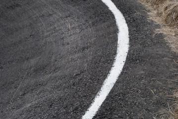 pista para competencia ciclística