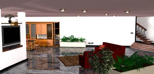 Arredamento interno della sala