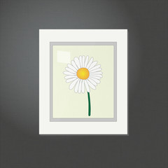 Daisy Picture on a White Frame EPS10