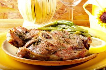 roast pork with green pepper