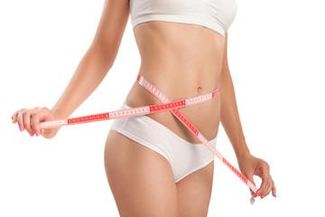 Slim body of woman.
