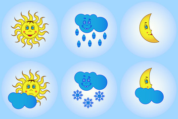 Funny weather for young children