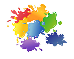 colored blots.