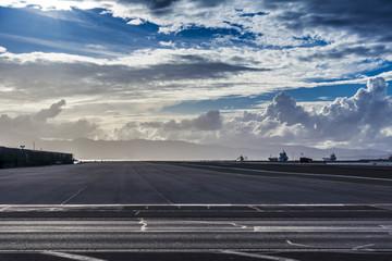 Start- und Landebahn vom Flughafen in Gibraltar