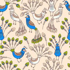 Seamless peacocks