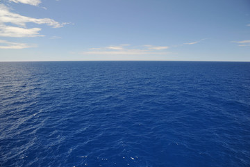 Deep blue sea and sky