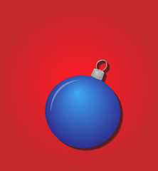 Minimalist Greeting Card with Blue Bauble EPS10