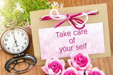 Take care of your self.