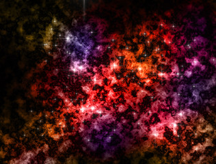 Nebulas outer space colors illustration background.