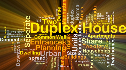 Duplex house background concept glowing