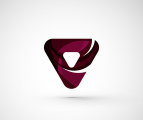 Abstract geometric company logo triangle, arrow