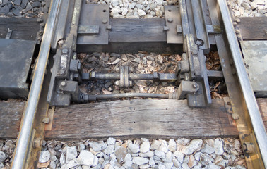 The old railroad tracks