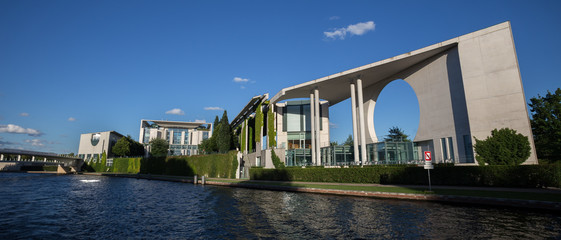 berlin riverside view with bundeskanzleramt