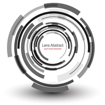 Background 3D with abstract lens design .