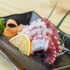 Traditional japanese food, Squid Sashimi