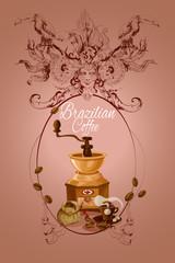Brazilian coffee poster