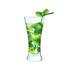 Mojito cocktail realistic
