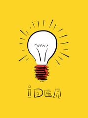 Vector doodle idea icon illustration