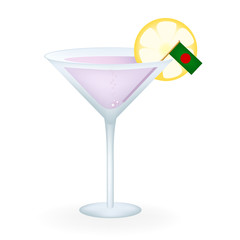 Cocktail Glass With A Flag Of Bangladesh