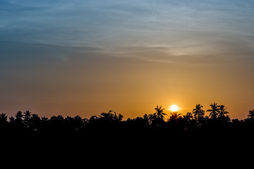 Golden sunsets, sky