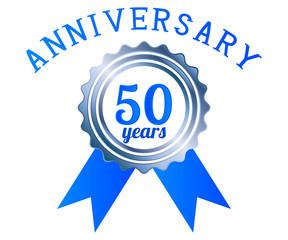 50 year anniversary logo ribbon
